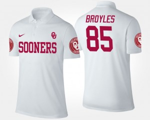 Sooners #85 White Ryan Broyles College Polo Men's