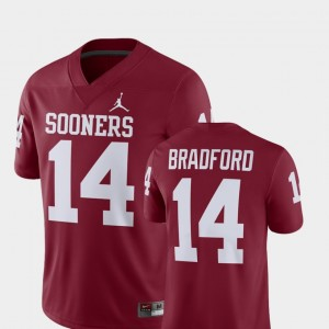 Player Crimson For Men's Sam Bradford College Jersey Oklahoma Sooners #14 Alumni Football Game
