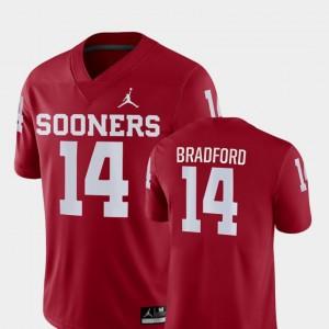 #14 Game OU Sooners Mens Sam Bradford College Jersey Crimson Football