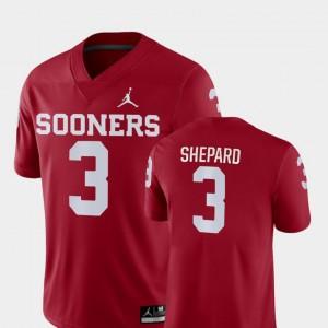 Oklahoma Crimson Game Football Sterling Shepard College Jersey Mens #3