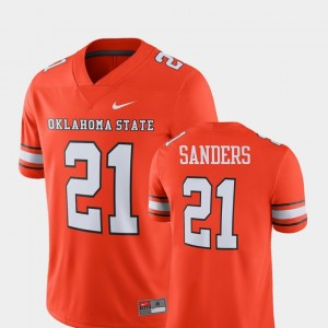 OSU Player Alumni Football Game Orange Men's #21 Barry Sanders College Jersey