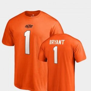 #1 Legends OK State Name & Number Orange Dez Bryant College T-Shirt For Men