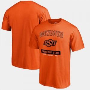 Big & Tall College T-Shirt OK State Orange Campus Icon For Men