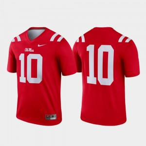 College Jersey Red Football Mens #10 University of Mississippi Legend