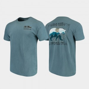 Mens Ole Miss College T-Shirt State Scenery Comfort Colors Blue
