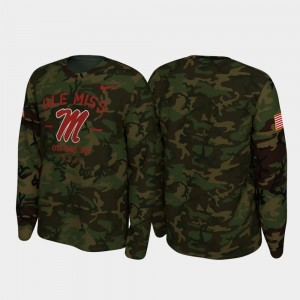 Camo Ole Miss Legend Long Sleeve 2019 Veterans Day College T-Shirt For Men's