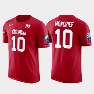 Future Stars Rebels Donte Moncrief College T-Shirt Jacksonville Jaguars Football Red #10 Mens