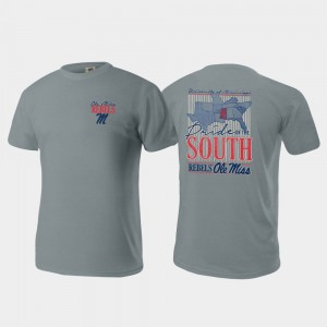 Comfort Colors College T-Shirt Ole Miss Gray Pride of the South For Men's
