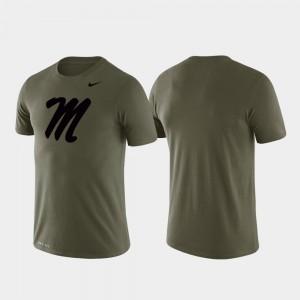 Tonal Logo Legend College T-Shirt Green Ole Miss For Men Performance