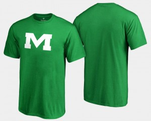 St. Patrick's Day White Logo Big & Tall Ole Miss Kelly Green College T-Shirt Mens