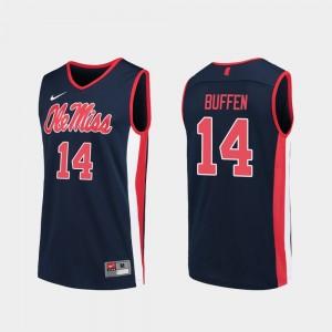 #14 Navy KJ Buffen College Jersey Ole Miss Rebels Replica Basketball Men's