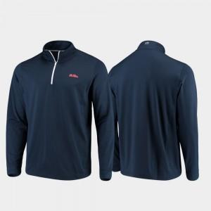 Gameday Navy College Jacket For Men Rebels Quarter-Zip Performance