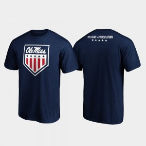 Navy College T-Shirt OHT Military Appreciation Rebels Military Appreciation Men
