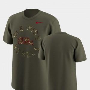 University of Mississippi Men College T-Shirt Legend Camo Olive