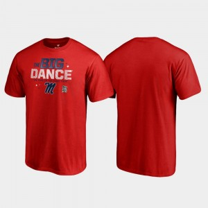 Ole Miss Big Dance March Madness 2019 NCAA Basketball Tournament College T-Shirt Men Red