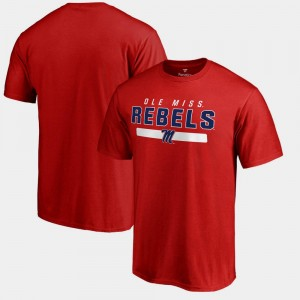 College T-Shirt Team Strong For Men Red Rebels