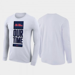 2020 March Madness College T-Shirt Mens White Our Time Bench Legend Ole Miss
