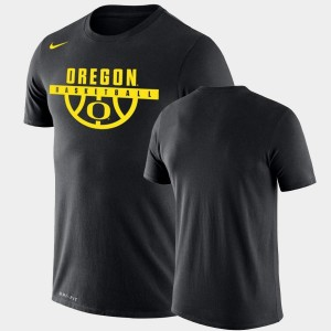 College T-Shirt Black For Men's Drop Legend Performance Basketball University of Oregon
