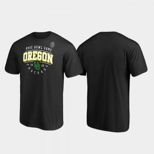 For Men's Tackle 2020 Rose Bowl Bound College T-Shirt Black Oregon Ducks