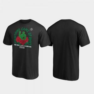 2020 Rose Bowl Champions Men Ducks Receiver Black College T-Shirt