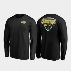 Oregon Ducks Men Score Lateral Long Sleeve Black 2020 Rose Bowl Champions College T-Shirt