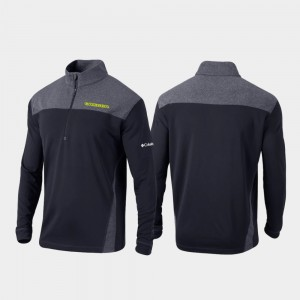 Quarter-Zip Pullover Black Omni-Wick Standard College Jacket Oregon Men's