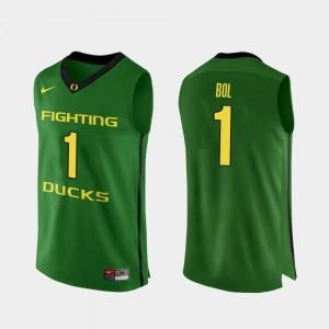 Men Authentic #1 Oregon Ducks Apple Green Basketball Bol Bol College Jersey