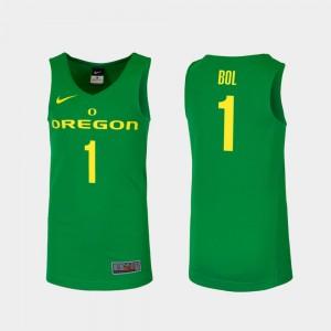 Men #1 Basketball Replica Oregon Duck Green Bol Bol College Jersey