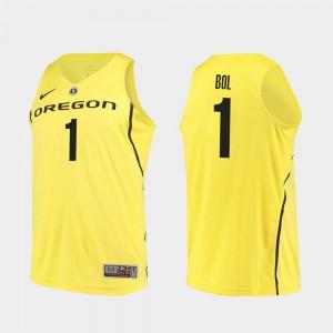 Oregon Duck Bol Bol College Jersey Men's Yellow Basketball #1 Authentic