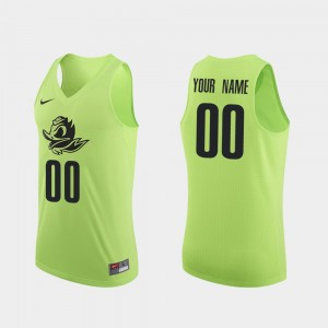 UO Apple Green Men's College Customized Jersey Authentic Basketball #00