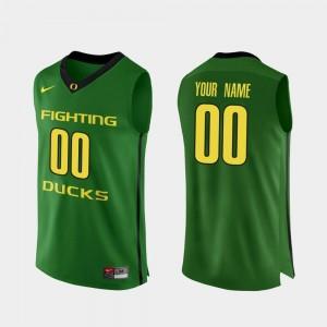 Basketball Men's #00 Authentic College Custom Jerseys Apple Green Ducks