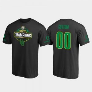 College Custom T-Shirts #00 Black 2019 PAC-12 North Football Division Champions Oregon Ducks Men's