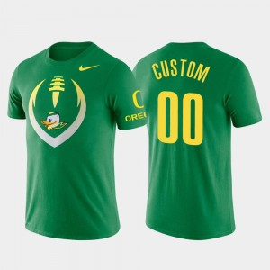Football Icon #00 College Custom T-Shirt Performance Men Green Oregon Duck