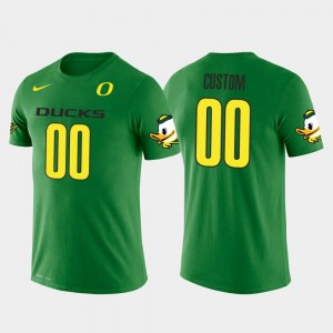 #00 Future Stars Green College Customized T-Shirts Men University of Oregon Cotton Football