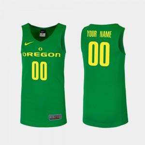 Replica For Men Basketball Ducks Green College Custom Jersey #00