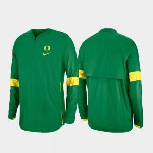 Green 2019 Coaches Sideline Oregon Ducks For Men's College Jacket Quarter-Zip