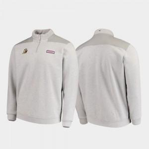 Heathered Gray University of Oregon College Jacket Quarter-Zip For Men Shep Shirt