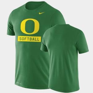 Oregon Duck Mens Drop Legend Performance Softball College T-Shirt Green