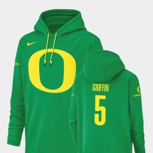 #5 For Men Taj Griffin College Hoodie University of Oregon Champ Drive Football Performance Green