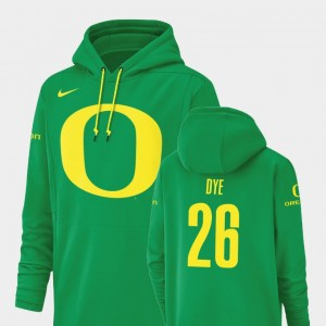 Football Performance Green Oregon Duck Champ Drive #26 Travis Dye College Hoodie Mens