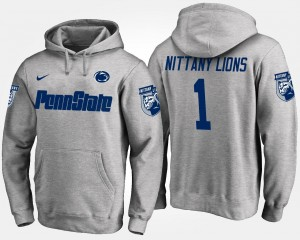Penn State Gray #1 No.1 College Hoodie Mens