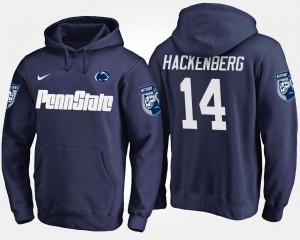 Christian Hackenberg College Hoodie Mens Navy #14 Nittany Lions