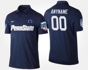 Men's Fiesta Bowl Navy Nittany Lions #00 College Customized Polo Bowl Game
