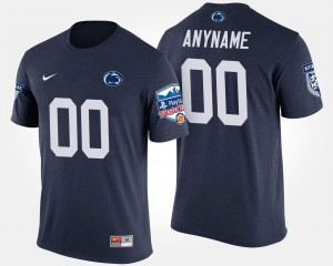 Navy College Customized T-Shirts Fiesta Bowl Penn State Bowl Game #00 For Men's