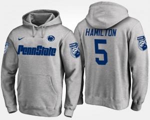 #5 Penn State Gray DaeSean Hamilton College Hoodie Men's