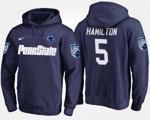 Penn State #5 Navy Men DaeSean Hamilton College Hoodie