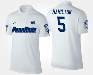 #5 Penn State Men White DaeSean Hamilton College Polo