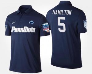 Fiesta Bowl DaeSean Hamilton College Polo #5 Navy Men's Bowl Game PSU
