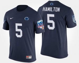 Navy Fiesta Bowl #5 PSU DaeSean Hamilton College T-Shirt Men Bowl Game