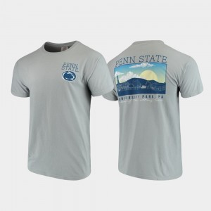Gray Mens Campus Scenery College T-Shirt Comfort Colors Penn State